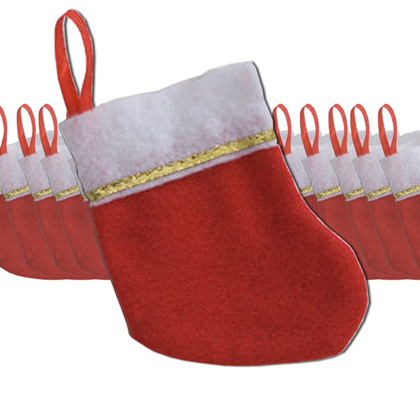 """Christmas Stockings Mini Knit 5"""" 6PC Set Bulk 9223C"""