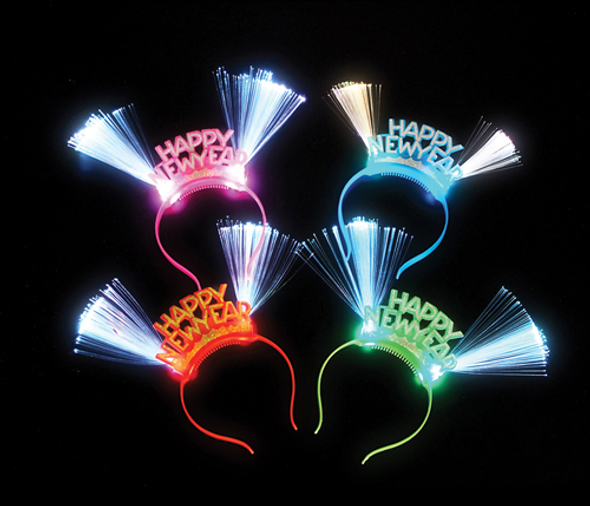 Happy New Year LED Headband Bulk 12 PACK 9226D