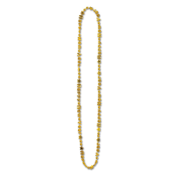 New Years Beads Gold Bulk 12 PACK 6700D