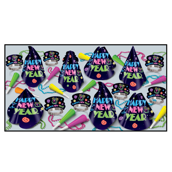 New Years Party Kit Neon Party Favors 3889