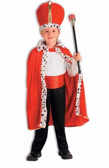 Child King Robe & Crown Costume Mardi Gras 4559
