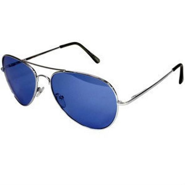 Multicolored Aviators Reflective Mirror Sunglasses 12 PACK 7130D