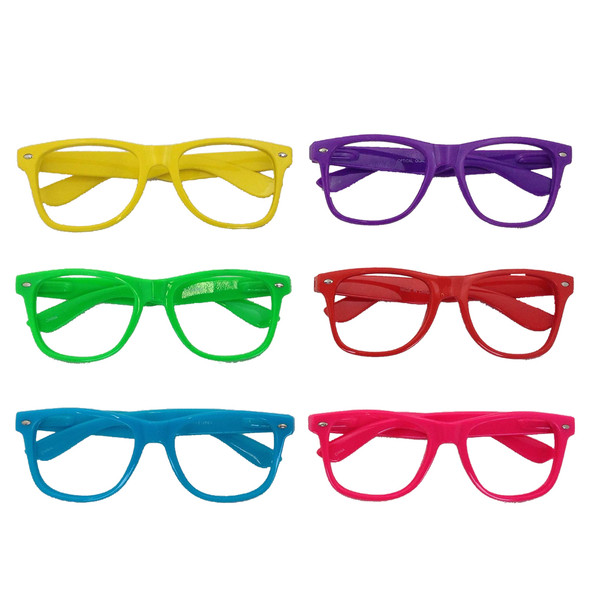 Bulk Lensless Party Glasses Adult 12 PACK Multicolor 7145D