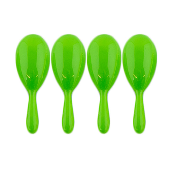 """4"""" Plastic Neon Green Maracas 1767"""