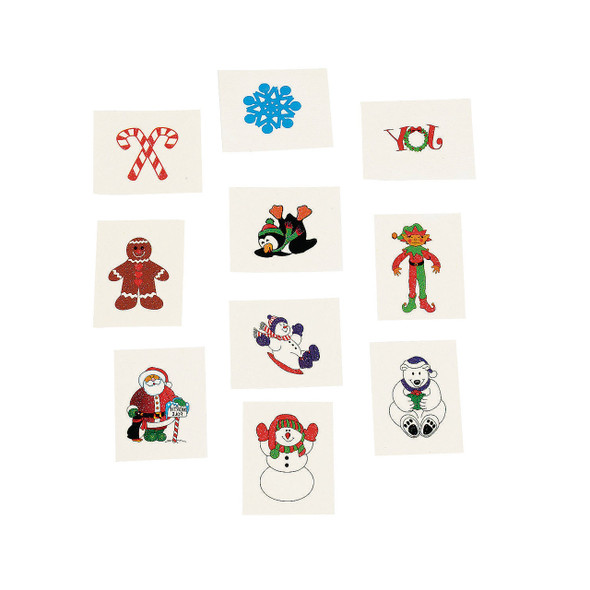 Christmas Temporary Tattoos Holiday Bulk 9257