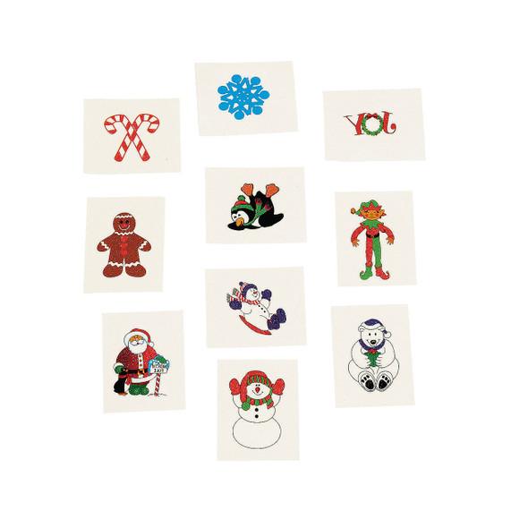 Christmas Temporary Tattoos Holiday Bulk 9257