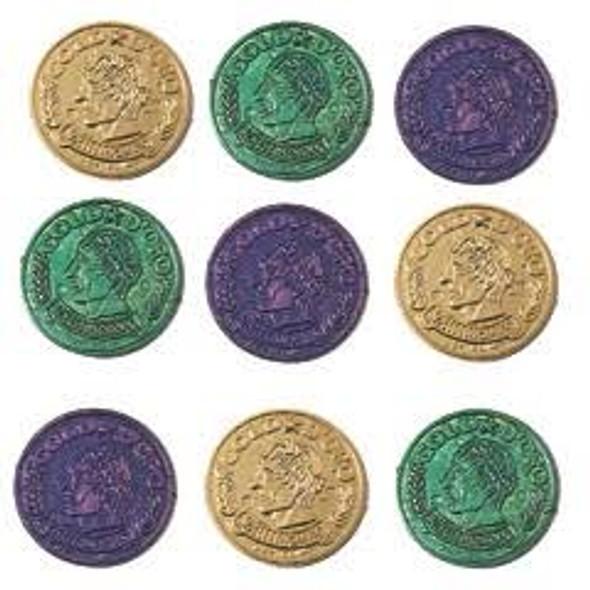 Bulk Mardi Gras Coins | Wholesale Mardi Gras Coins | 144 PK | 9228