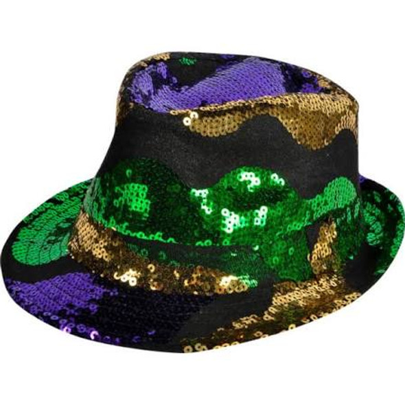LED Mardi Gras Fedora Hat | 12 PK |  5986DZ