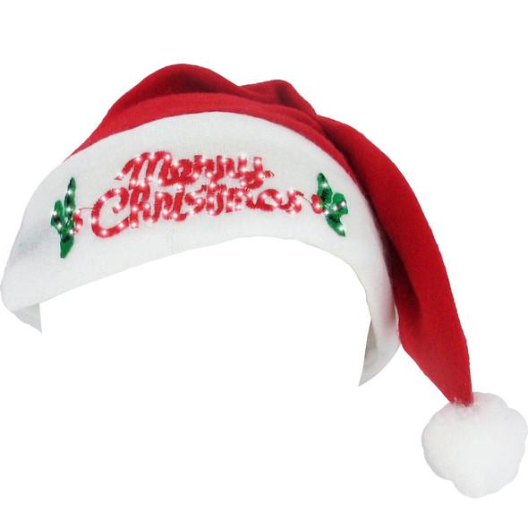 Wholesale LED Santa Hat Merry Christmas 12PK Bulk 5987