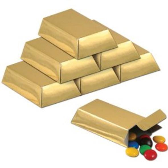 Foil Gold Bar Favor Boxes Pirate Party 11088
