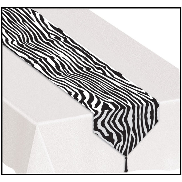 Zebra Table Runner Party Prop 3895