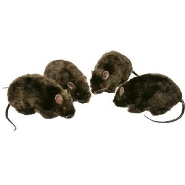 Furry Black Rat Prop 9169