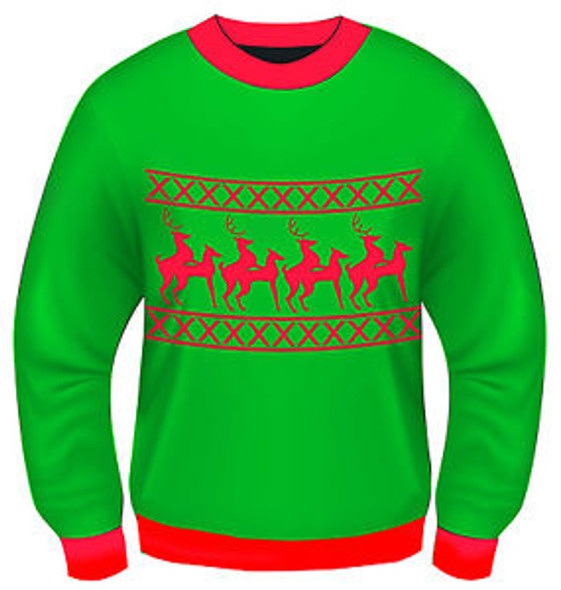 Ugly Christmas Sweater Reindeer Games Adult Sweater 8606