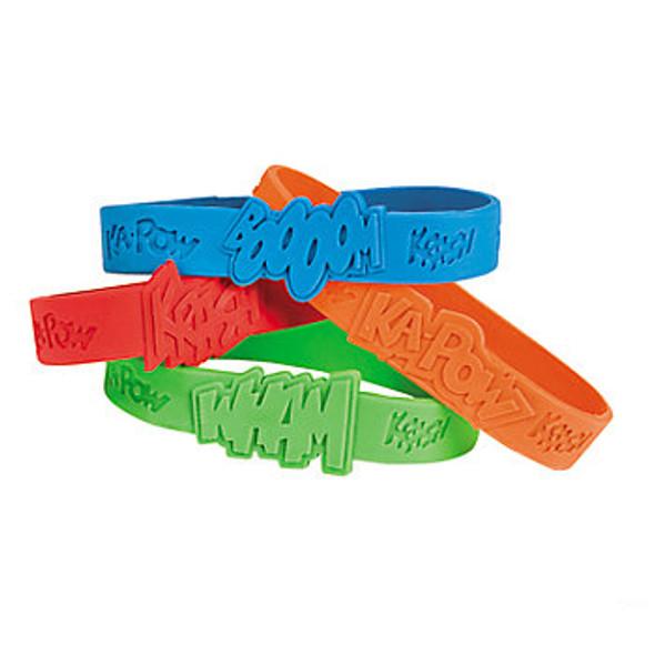 Superhero Sayings Bracelets 24 Pack 9903