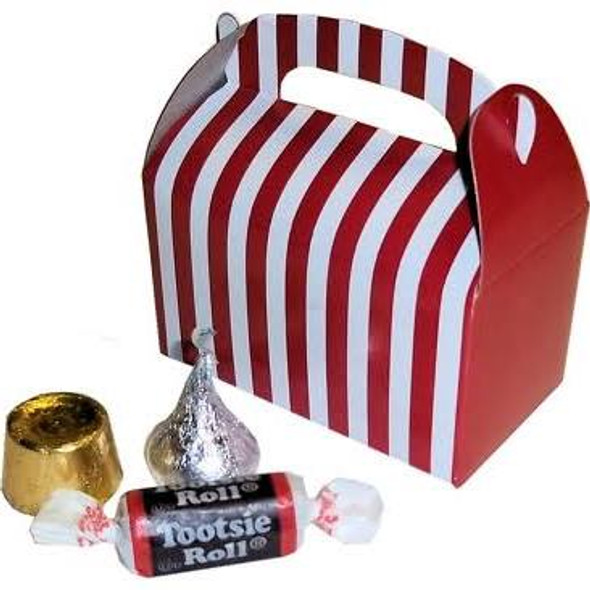 24 PACK Mini Red Striped Treat Boxes 3905D