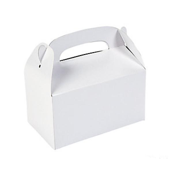 24 PACK Mini White Treat Boxes Bulk 3911D