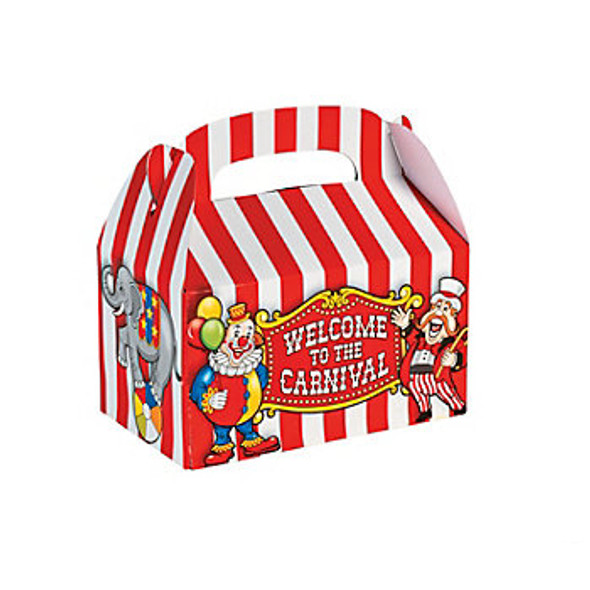 Big Top Treat Boxes Carnival Circus 12 PACK 3912D