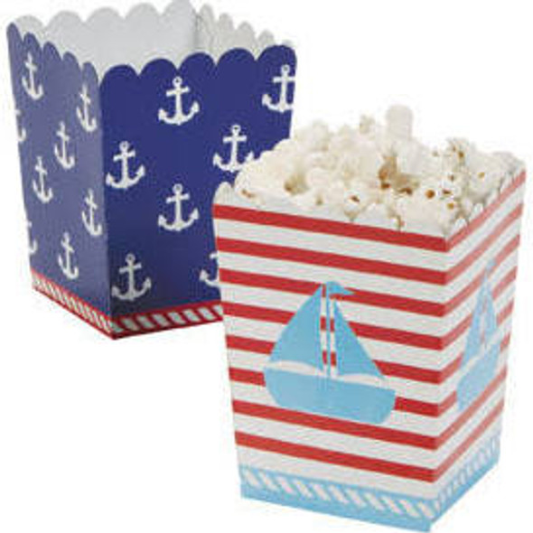 Nautical Sailor Mini Popcorn Boxes 12 PK 3913D