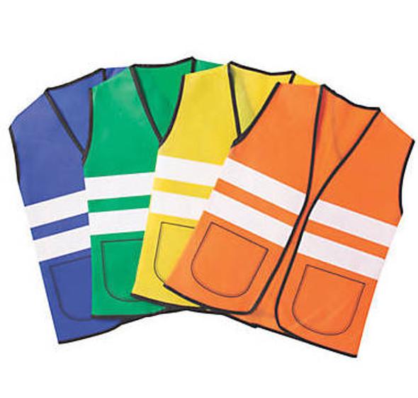 Child Construction Vest Child 12 PACK 4 Colors 8607