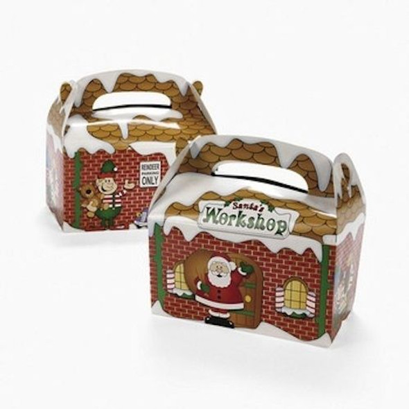 Santa's Workshop Treat Boxes Santas Gift Boxes Bulk 12 PACK 3916D