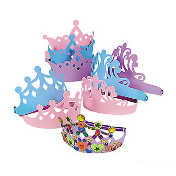 Foam Princess Tiaras | 12 PACK  5520D