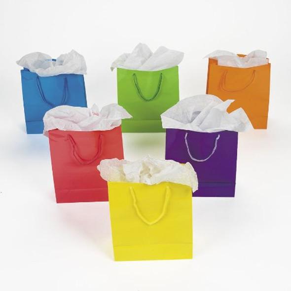 Neon Gift Bags Medium Bulk 12 PK 3899D