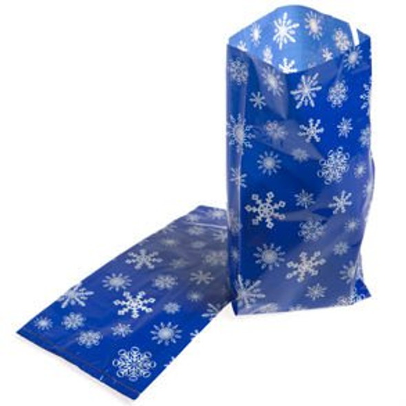 Snowflake Cellophane Bags 12 PACK 3919D