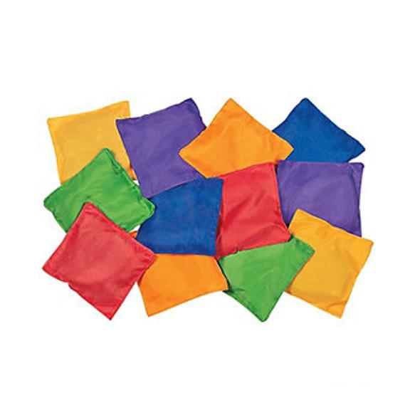 Toy Bean Bags Assorted Nylon 12 PK 3397D