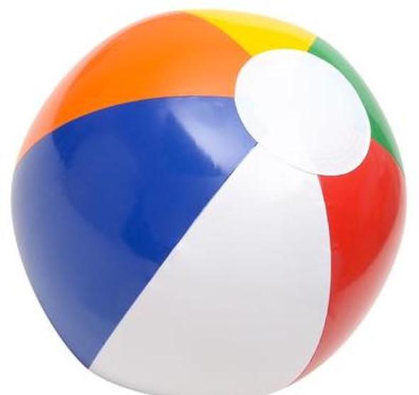 Inflatable Rainbow Medium Beach Balls 12 Pack