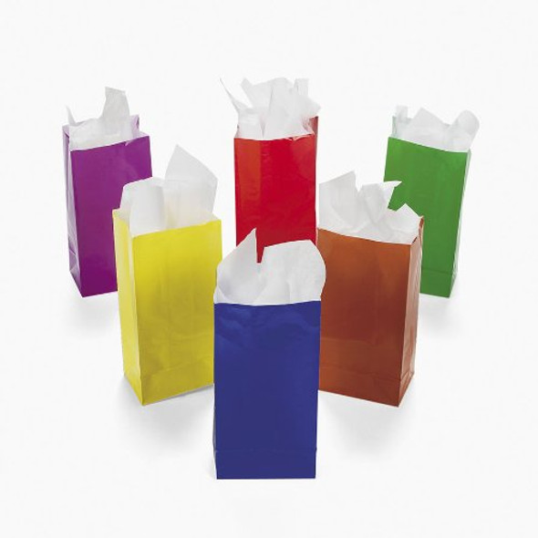 Mini Treat Bags Assorted Paper 3918D 12PK