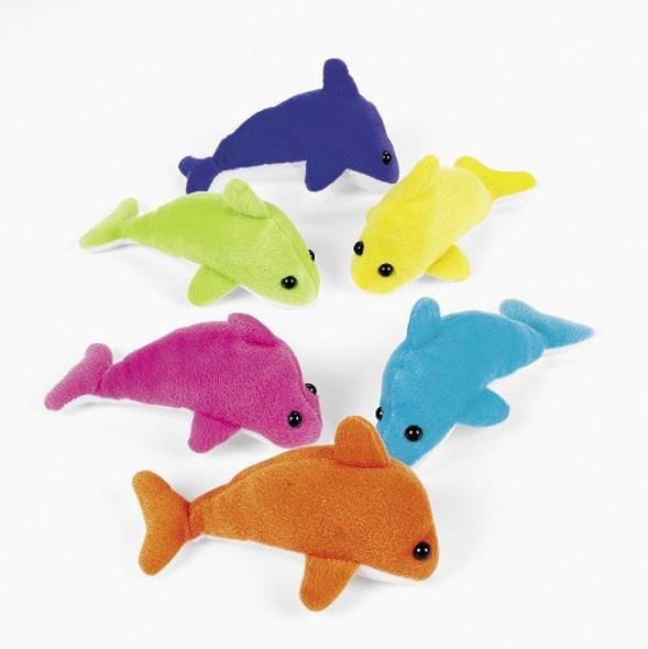 Plush Mini Dolphins 6Ct 9283