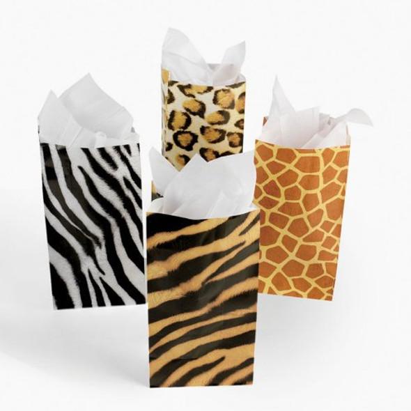 Zoo Animal Goody Bags Gift Bags 12 PK 3933D