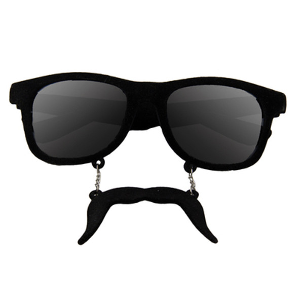 Black Mustache Adult Style Sunglasses 12 PACK WS7095D