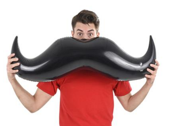 """Black 40"""" Mustache Inflate 12 PACK WS6692D"""