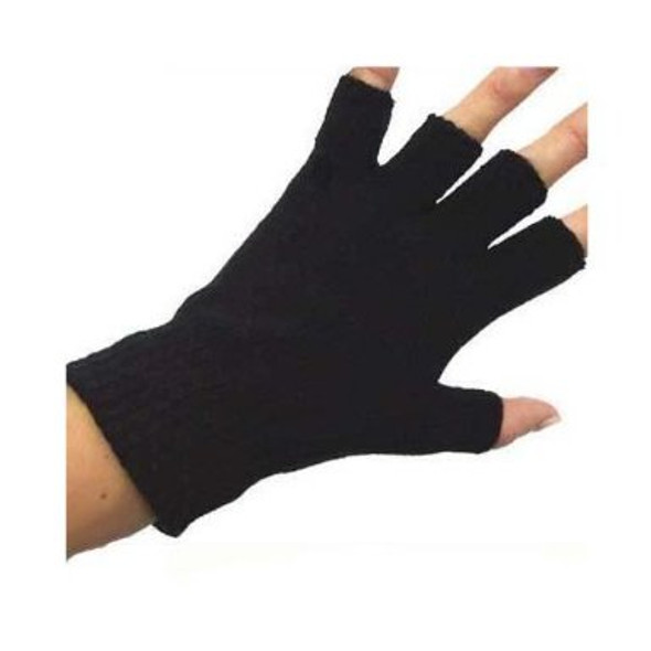 Fingerless Gloves Wholesale | Black Knit Bulk 12 PACK 5075D