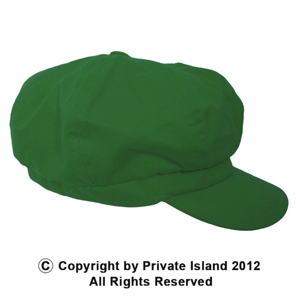 Paperboy Hat | Luigi Hat |  Green 12PK Adult Rayon WS1404D