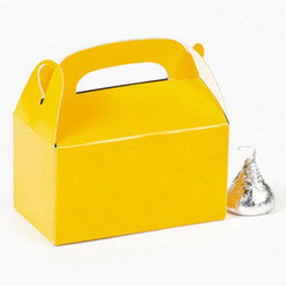 24 PACK Mini Yellow Treat Boxes, Party 3939D