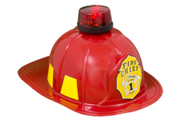 Fire Chief Hard Helmet with Light Deluxe  12 PACK WS5952D