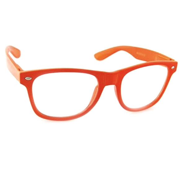 Orange Iconic 80's Style 12 PACK Clear Lens Adult Sunglasses WS1084D