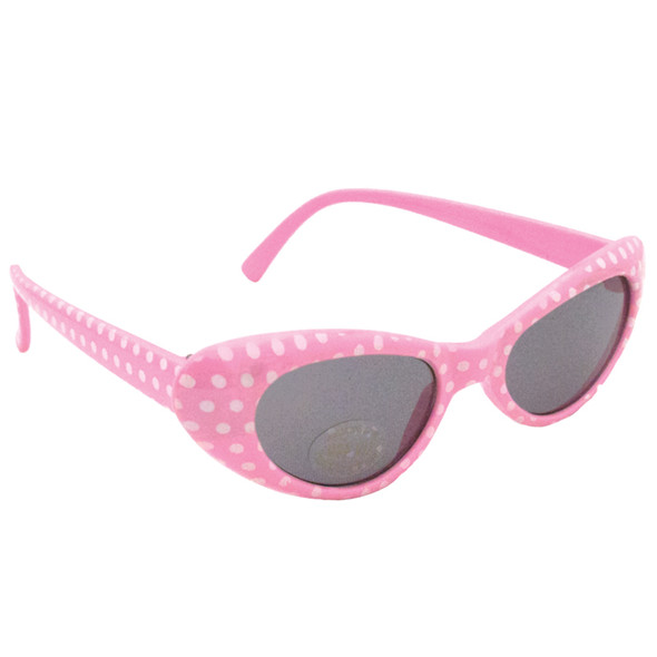 Pink Cat Eye Sunglasses Bulk |  KIDS SIZE Pink Cat Eye Sunglasses Wholesale |  12 PACK WS7083D