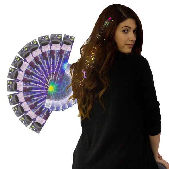 Rainbow Starlight Fiber Optic Hair Extensions 12PK WS6164D