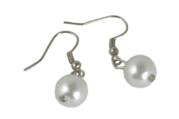 Pearl Flapper Earrings  12 PACK WS6503D