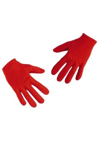 12 PACK PAIR Child Red Costume Gloves Polyester WS5033D