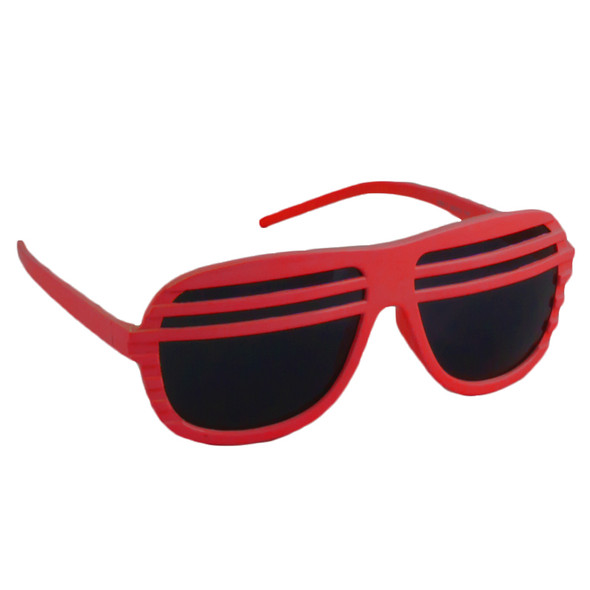 Red Half Shutter Shades Sunglasses  12 PACK WS1154D