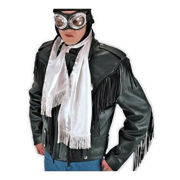Aviator Scarf, White Bulk 12 PACK WS2050D