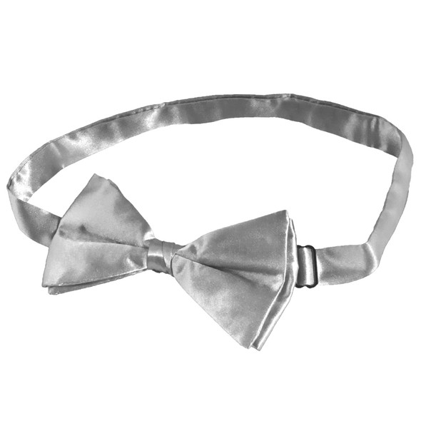 Satin Bow Tie Men's Silver  12 PACK WS6833D