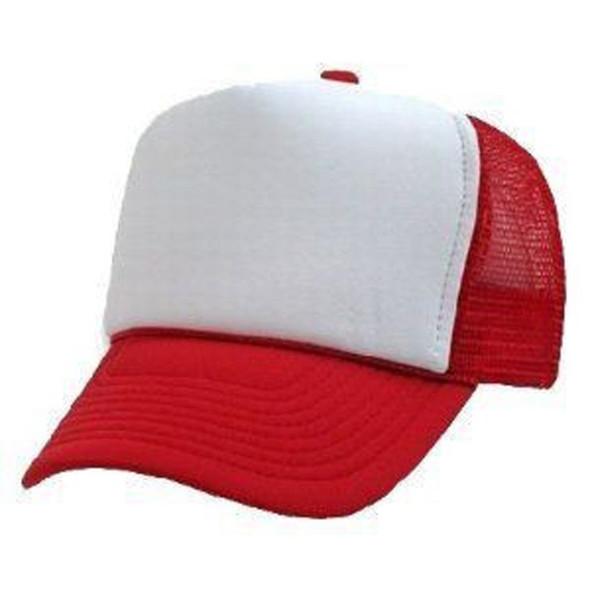 Bulk 12 PACK Red/White Trucker Caps 12 PACK WS1460D