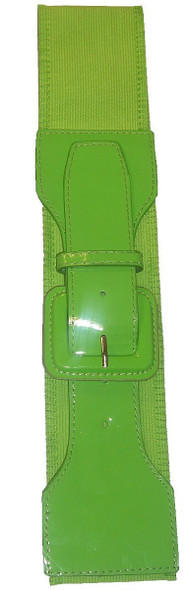 12 PACK Neon Green 80's Elastic Frill Belt WS2409D