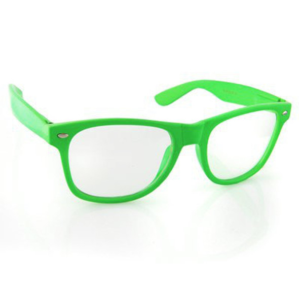 Green Clear Lens Adult Sunglasses 12 PACK WS1083D