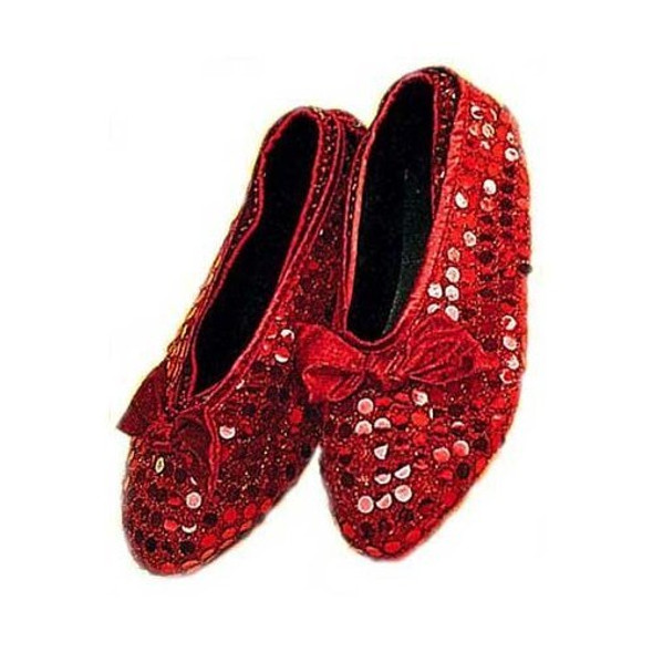 Adult Sequin Ruby Shoe Covers 12 PACK